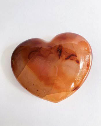 Orange Carnelian Crystal Heart