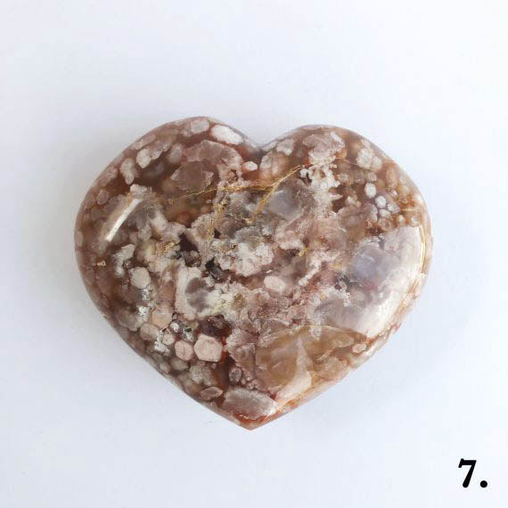 House of Formlab Flower Agate Heart Number 07