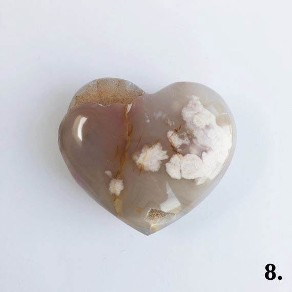 House of Formlab Flower Agate Heart Number 08