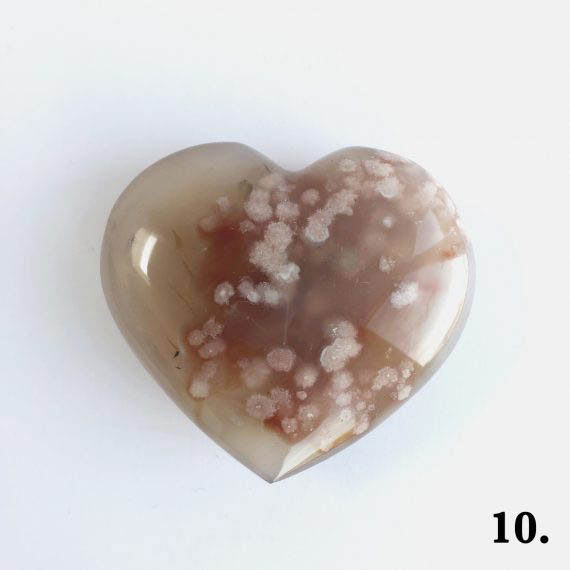 House of Formlab Flower Agate Heart Number 10