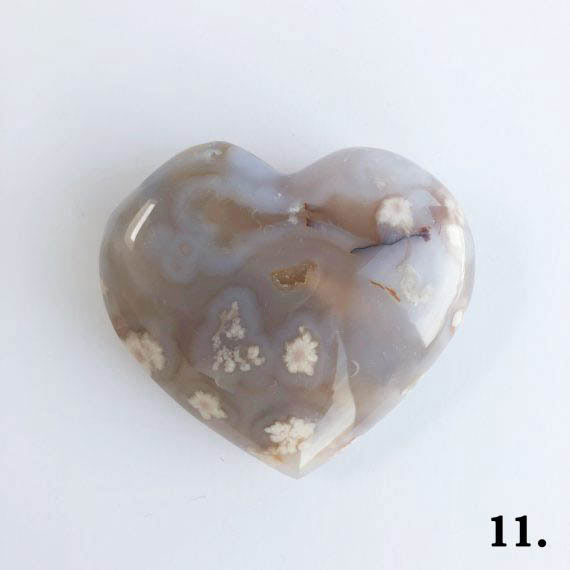 House of Formlab Flower Agate Heart Number 11