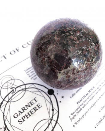 Garnet Crystal Ball Spheres