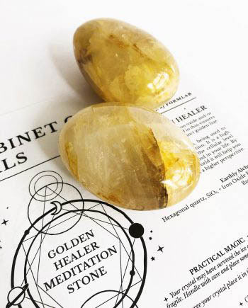 Golden Healer Quartz Crystal Meditation Stone