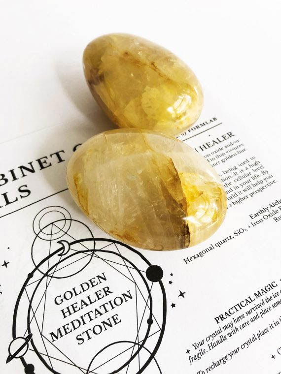 House of Formlab Golden Healer Meditation Stones 01