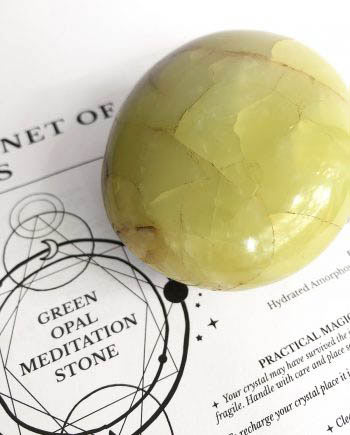 Green Opal Meditation Stone Crystal