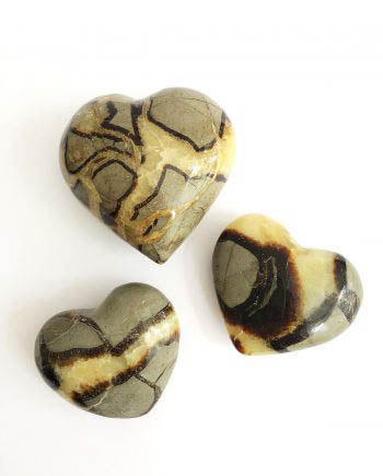 Septarian Dragon Stone Fossilised Calcite Crystal Hearts