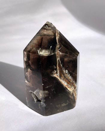 Dark Smoky Quartz Crystal Point