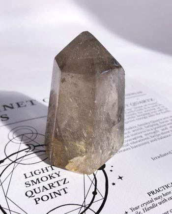Light Smoky Quartz Crystal Point