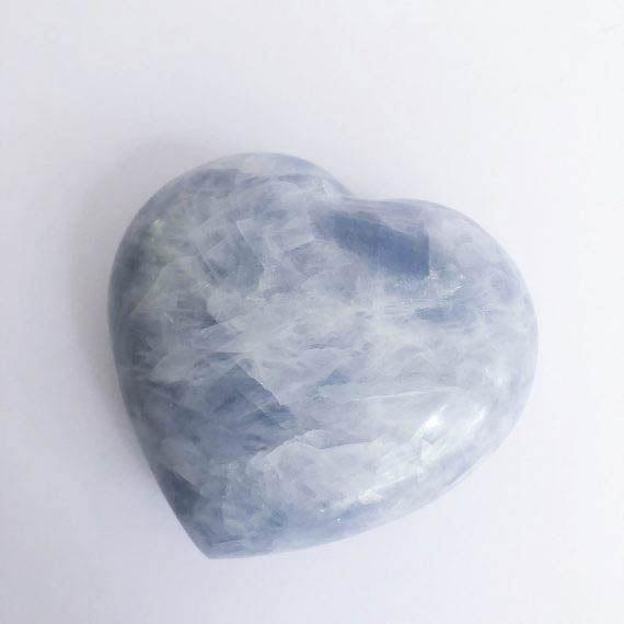 Blue Calcite Heart