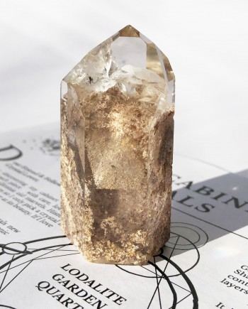 House of Formlab Pink Lodalite Garden Quartz Point