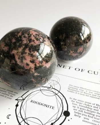 House of Formlab Rhodonite Spheres
