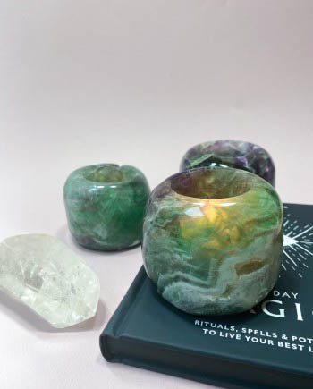 House of Formlab Fluorite Tea Light Candle Holders