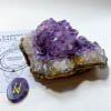 -Amethyst Rose Watercolour Cluster