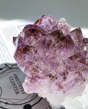 Amethyst Cluster with Iron Inclusions