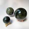 Silver Obsidian Spheres