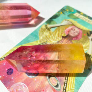 House of Formlab Rose and Sunshine Aura Crystal