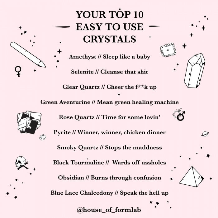 House of Formlab top 10 easy to use crystals for beginners