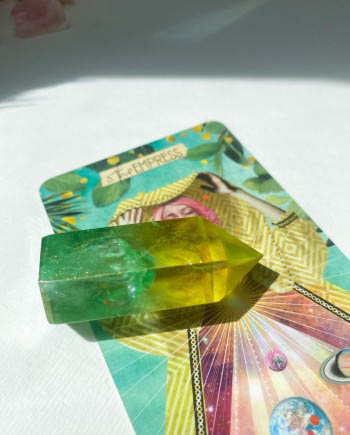 Golden Apple Aura Quartz Points