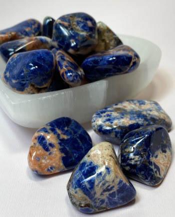 sodalite meditation stones