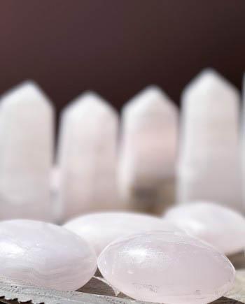 mangano calcite meditation stones