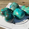 House of Formlab Chrysocolla Malachite and Cuprite pocket stones