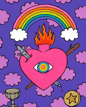 House of Formlab The Rainbow Heart Tarot Deck
