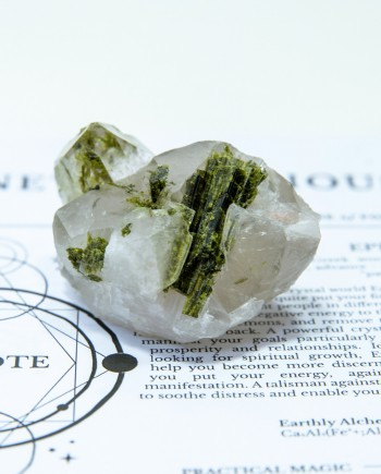 House of Formlab Epidote in Quartz