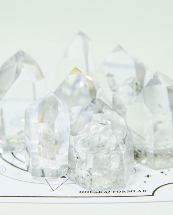 House of Formlab Clear Quartz Points for Crystal Grids
