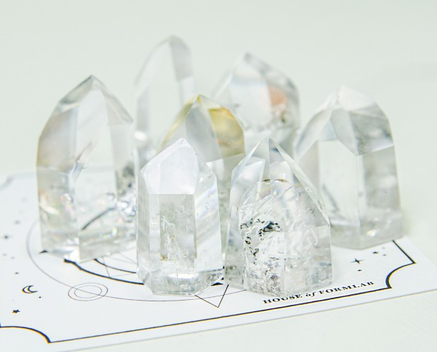 House of Formlab Small Clear Quartz Points for Crystal Grids