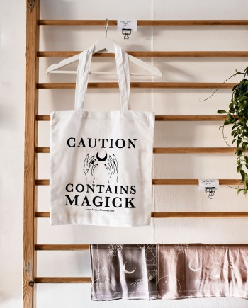 House of Formlab Caution Contains Magick Cotton Bag