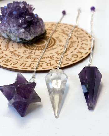House of Formlab Crystal Divination Pendulums