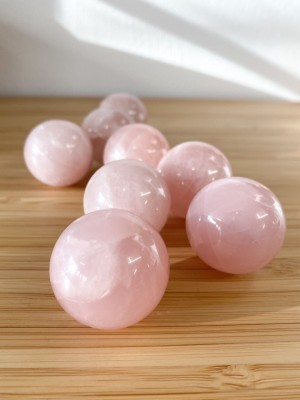 House of Formlab Rose Quartz Small Spheres