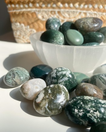 House of Formlab Moss Agate Pocket Stones