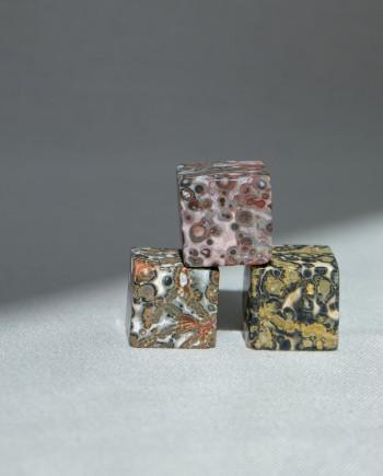 House of Formlab Leopard Skin Jasper Mini Cubes