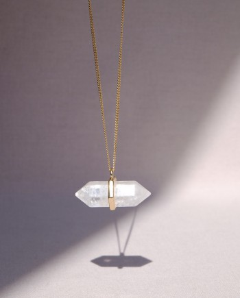 House of Formlab Master Healer Clear Quartz Necklace Pendant
