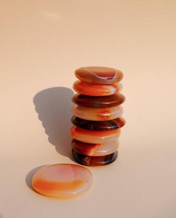 House of Formlab Carnelian Meditation Discs